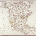 Map Of North America by Fototeca Storica Nazionale