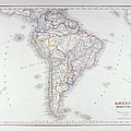 Map Of South America by Fototeca Storica Nazionale
