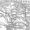 Map: Suez Canal, 1869 by Granger