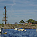 Marblehead Lighthouse From The Water by Ruth H Curtis