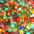 Marbles - Painterly by Wingsdomain Art and Photography