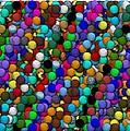 Marbles..or...gumballs by Paul Van Scott