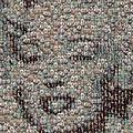Marilyn Monroe Bubble Glass Mosaic by Paul Van Scott