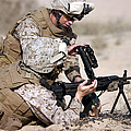 Marine Gives Instructions On How by Stocktrek Images