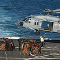 Marines Attach Cargo To An Mh-60s Sea by Stocktrek Images