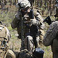 Marines Communicate With Other Elements by Stocktrek Images