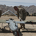 Marines Move An Rq-7 Shadow Unmanned by Stocktrek Images