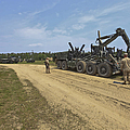 Marines Offload A Logistics Vehicle by Stocktrek Images