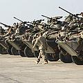 Marines Perform Maintenance On Light by Stocktrek Images