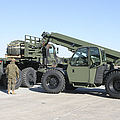 Marines Pick Up Palletized Logistics by Stocktrek Images