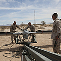 Marines Place An Rq-7 Shadow Unmanned by Stocktrek Images