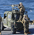 Marines Provide Security Aboard by Stocktrek Images