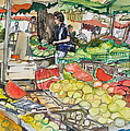 Market At Aix En Provence by Laurel Fredericks