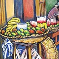 Market Merchant Of Granada by Carlos Morales