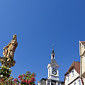 Market Square In Aalen, Germany by Werner Dieterich