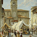 Marketday In Desanzano  by Jacques Carabain