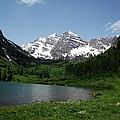 Maroon Bells In Summer by Barkley Simpson