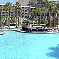 Marriott Hotel Swimming Pool Panorama Orlando Fl by Thomas Woolworth