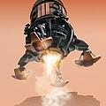 Mars Lander, Artwork by Victor Habbick Visions
