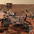 Mars Rover Firing Laser by NASA and Science Source