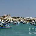 Marsaxlokk Harbour by John Chatterley