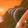 Martian Colony, Artwork by Richard Bizley