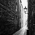 Martins Lane Narrow Entrance To Tenement Buildings In Old Aberdeen Scotland Uk by Joe Fox