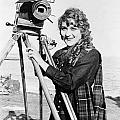Mary Pickford (1893-1979). Born Gladys Mary Smith. American Actress, With A Movie Camera On A Beach, C1916 by Granger