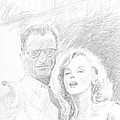 Marylin Monroe And Arthur Miller by Horacio Prada