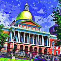 Massachusetts State House by Stephen Younts