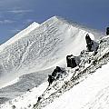Massif Of Sancy In Winter. Puy De Dome. Auvergne by Bernard Jaubert
