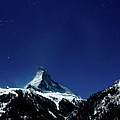 Matterhorn Switzerland Blue Hour by Maria Swärd