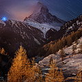 Matterhorn With Star Trail by Coolbiere Photograph