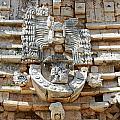 Mayan Architectural Details At Uxmal Mexico by Shawn O'Brien