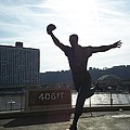 Mazeroski Statue In Pittsburgh by Tiffney Heaning