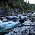 Mcdonald River Glacier National Park - 3 by Paul Cannon
