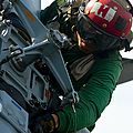 Mechanic Inspects An Mh-60r Sea Hawk by Stocktrek Images