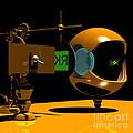 Mechanical Oculist Green by Russell Kightley