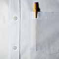 Mechanical Pencil In White Shirt Pocket. by Ballyscanlon