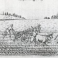Mechanised Plough, 16th Century Artwork by Middle Temple Library