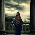Medieval Lady Watching The Sea by Jill Battaglia