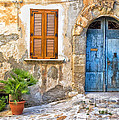 Mediterranean Door Window And Vase by Silvia Ganora