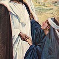 Meeting Of Jesus And Martha by Corwin Knapp Linson