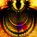 Melting Pot . Gold . Horizontal Cut . S8a.s11 by Wingsdomain Art and Photography