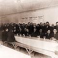 Men Dining At New Yorks Municipal by Everett