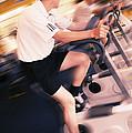 Men Exercising by Mark Sykes