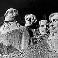 Men Working On Mt. Rushmore by Underwood Archives