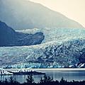 Mendenhall Glacier On A Foggy Morning by Marilyn Wilson