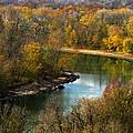 Meramec River Bend At Castlewood State Park by Greg Matchick