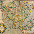 Mercators Map Of Asia by Photo Researchers